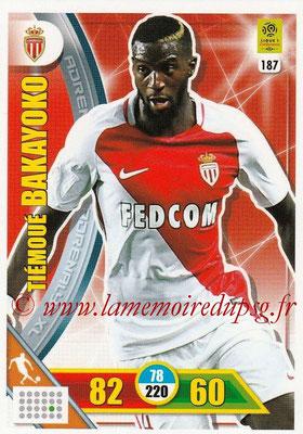 2017-18 - Panini Adrenalyn XL Ligue 1 - N° 187 - Tiémoué BAKAYOKO (Monaco)