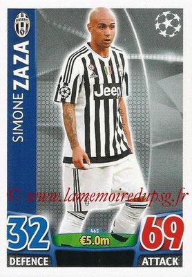 2015-16 - Topps UEFA Champions League Match Attax - N° 465 - Simone ZAZA (Juventus FC)