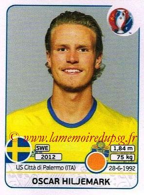 Panini Euro 2016 Stickers - N° 556 - Oscar HILJEMARK (Suède)