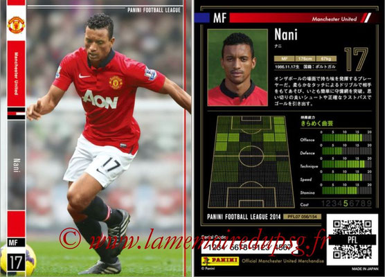 Panini Football League 2014 - PFL07 - N° 056 - NANI (Manchester United)