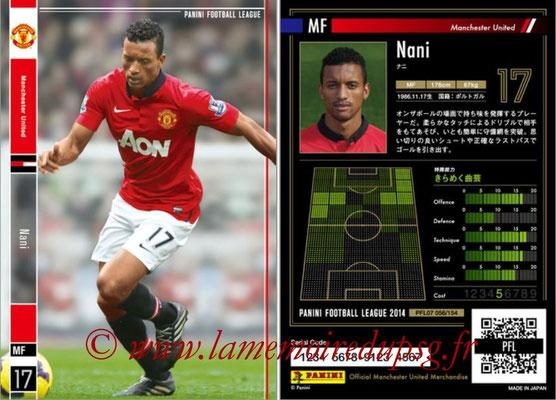 Panini Football League 2014 - PFL07 - N° 056 - NANI (Manchester United)