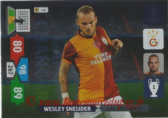 2013-14 - Adrenalyn XL champions League N° 340 - Wesley SNEIJDER (Galatasaray AS) (Game Changer)