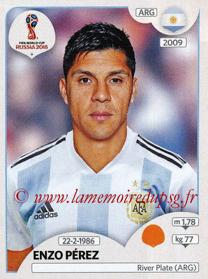2018 - Panini FIFA World Cup Russia Stickers - N° 282 - Enzo PEREZ (Argentine)