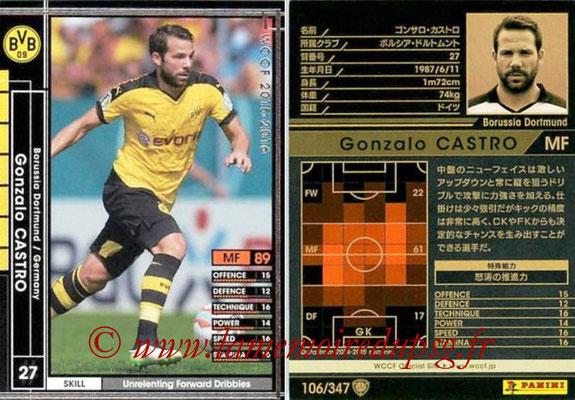 2015-16 - Panini WCCF - N° 106 - Gonzalo CASTRO (Borussia Dortmund)