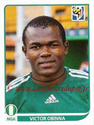 2010 - Panini FIFA World Cup South Africa Stickers - N° 141 - Victor OBINNA (Nigeria)