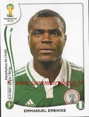 2014 - Panini FIFA World Cup Brazil Stickers - N° 487 - Emmanuel EMENIKE (Nigéria)