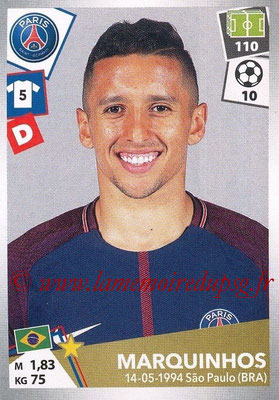 2017-18 - Panini Ligue 1 Stickers - N° 370 - MARQUINHOS (Paris Saint-Germain)