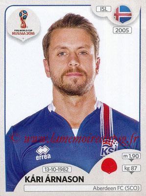 2018 - Panini FIFA World Cup Russia Stickers - N° 297 - Kari ARNASON (Islande)