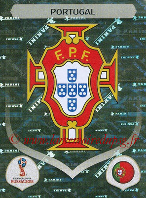 2018 - Panini FIFA World Cup Russia Stickers - N° 112 - Ecusson Portugal