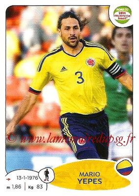 2014 - Panini Road to FIFA World Cup Brazil Stickers - N° 174 - Mario YEPES (Colombie)