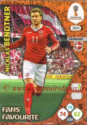 2018 - Panini FIFA World Cup Russia Adrenalyn XL - N° 369 - Nicklas BENDTNER (Danemarke) (Fans' Favourite)