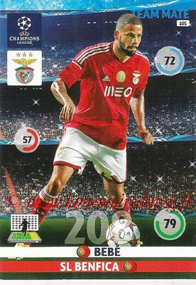 2014-15 - Adrenalyn XL champions League N° 105 - BEBE (SL Benfica)
