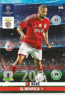 2014-15 - Adrenalyn XL champions League N° 105 - BEBE (SL Benfica)