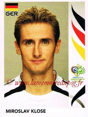 2006 - Panini FIFA World Cup Germany Stickers - N° 033 - Miroslav KLOSE (Allemangne)