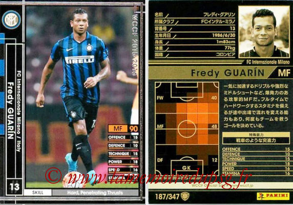 2015-16 - Panini WCCF - N° 187 - Freddy GUARIN (FC Inter Milan)
