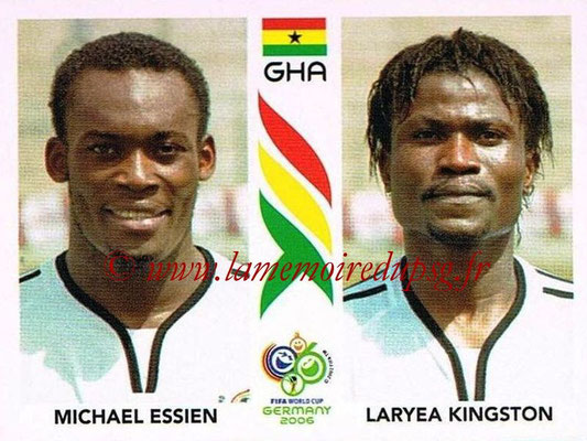 2006 - Panini FIFA World Cup Germany Stickers - N° 317 - Michael ESSIEN + Laryea KINGSTON (Ghana)