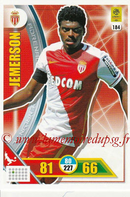 2017-18 - Panini Adrenalyn XL Ligue 1 - N° 184 - JEMERSON (Monaco)
