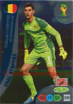 2014 - Panini FIFA World Cup Brazil Adrenalyn XL - N° 352 - Thibout COURTOIS (Belgique) (Goal Stopper)