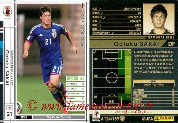 2015-16 - Panini WCCF - N° A124 - Gotoku SAKAI (Japon)