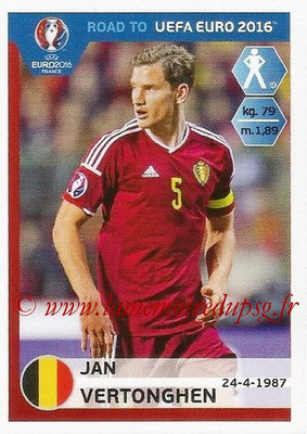Panini Road to Euro 2016 Stickers - N° 003 - Jan VERTONGHEN (Belgique)