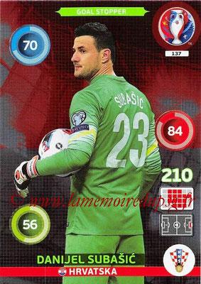 Panini Euro 2016 Cards - N° 137 - Danijel SUBASIC (Croatie) (Goal Stopper)