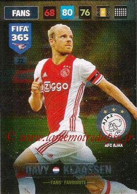 2016-17 - Panini Adrenalyn XL FIFA 365 - N° 072 - Davy KLAASSEN (AFC Ajax) (Fans' Favourite)