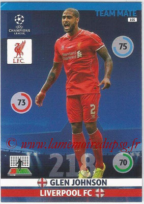 2014-15 - Adrenalyn XL champions League N° 155 - Glen JOHNSON (Liverpool FC)