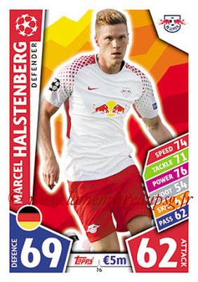 2017-18 - Topps UEFA Champions League Match Attax - N° 076 - Marcel HALTSTENBERG (RB Leipzig)