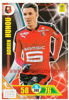2017-18 - Panini Adrenalyn XL Ligue 1 - N° 286 - Adrien HUNOU (Rennes)
