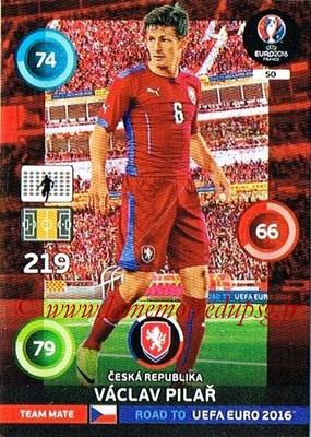 Panini Road to Euro 2016 Cards - N° 050 - Vaclav PILAR (République Tchèque)