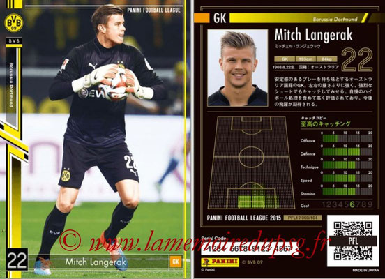 Panini Football League 2015 - PFL12 - N° 069 - Mitch LANGERAK (Borussia Dortmund)