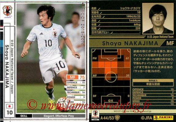 2015-16 - Panini WCCF - N° A44 - Shoya NAKAJIMA (Japon)