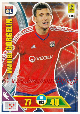2017-18 - Panini Adrenalyn XL Ligue 1 - N° 138 - Mathieu GORGELIN (Lyon)