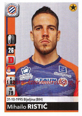 2018-19 - Panini Ligue 1 Stickers - N° T24 - Mihaimlo RISTIC (Montpellier) (Transfert)