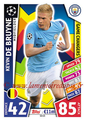 2017-18 - Topps UEFA Champions League Match Attax - N° GC15 - Kevin DE BRUYNE (Manchester City FC) (Game Changers)