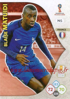 2018 - Panini FIFA World Cup Russia Adrenalyn XL - N° 145 - Blaise MATUIDI (France)