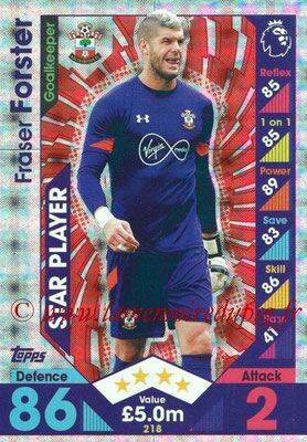 2016-17 - Topps Match Attax Premier League - N° 218