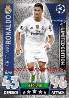 2015-16 - Topps UEFA Champions League Match Attax - N° LE1 - Cristiano RONALDO (Real Madrid CF) (Limited Edition Silver)