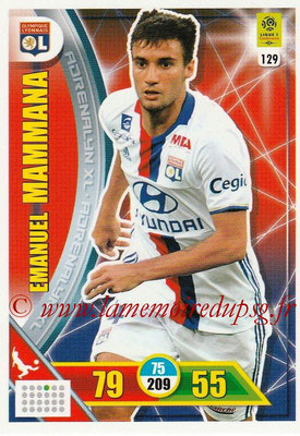 2017-18 - Panini Adrenalyn XL Ligue 1 - N° 129 - Emanuel MAMMANA (Lyon)