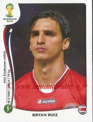 2014 - Panini FIFA World Cup Brazil Stickers - N° 295 - Bryan RUIZ (Costa Rica)