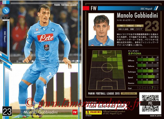 Panini Football League 2015 - PFL12 - N° 031 - Manolo GABBIADINI (SSC Napoli)