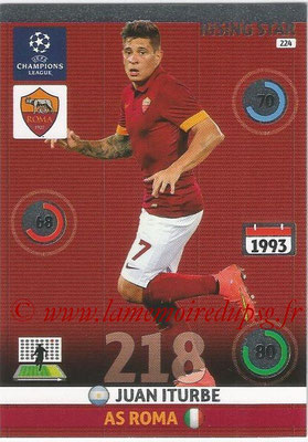 2014-15 - Adrenalyn XL champions League N° 224 - Juan ITURBE (AS Roma) (Rising star)