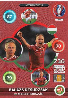 Panini Euro 2016 Cards - N° 205 - Balazs DZSUDZSAK (Hongrie) (Inventiveness)