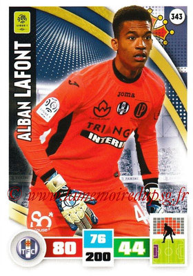 2016-17 - Panini Adrenalyn XL Ligue 1 - N° 343 - Alban LAFONT (Toulouse)