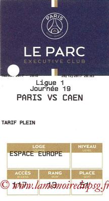 Tickets  PSG-Caen  2017-18