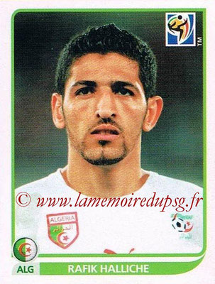 2010 - Panini FIFA World Cup South Africa Stickers - N° 227 - Rafik HALLICHE (Algérie)
