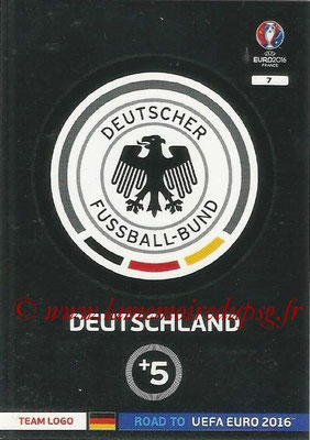 Panini Road to Euro 2016 Cards - N° 007 - Ecusson Allemagne