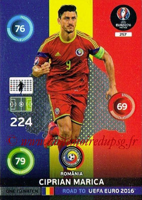 Panini Road to Euro 2016 Cards - N° 257 - Ciprian MARICA (Roumanie) (One to Watch)