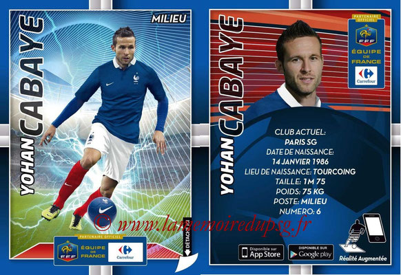 WC 2014 Collection Carrefour 3D Bleus - N° 12 - Yohan CABAYE (Paris SG)