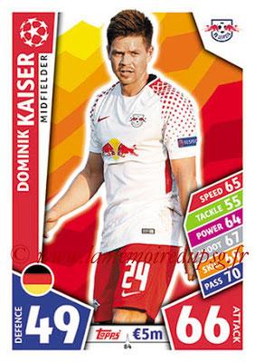 2017-18 - Topps UEFA Champions League Match Attax - N° 084 - Dominik KAISER (RB Leipzig)